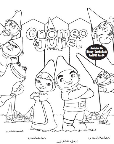 49 Best Images About Gnomeo And Juliet On Pinterest Gnomeo And Juliet Coloring Pages