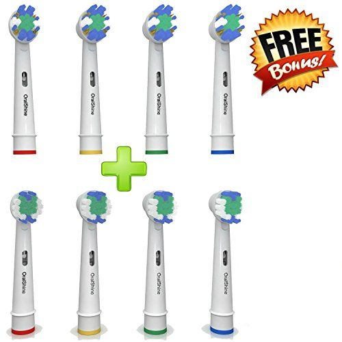 The Ultimate Oral B Braun Replacement Best Electric Toothbrush Heads (8) By OralShine | 4 Complimentary Soft Brush Heads Plus 4 Regular Heads | Remove Plaque And Decrease Gingivitis only for $25.99 - http://howto.hifow.com/the-ultimate-oral-b-braun-replacement-best-electric-toothbrush-heads-8-by-oralshine-4-complimentary-soft-brush-heads-plus-4-regular-heads-remove-plaque-and-decrease-gingivitis-only-for-25-99/