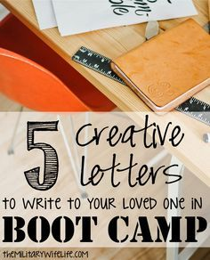 5 Creative Letters to Write to Your Loved One in Boot Camp | The Military Wife Life