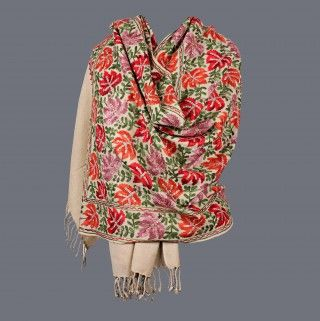 Featuring this Multi Color Thread Work Cream Stole in our wide range of Stoles. Grab yourself one. Now!