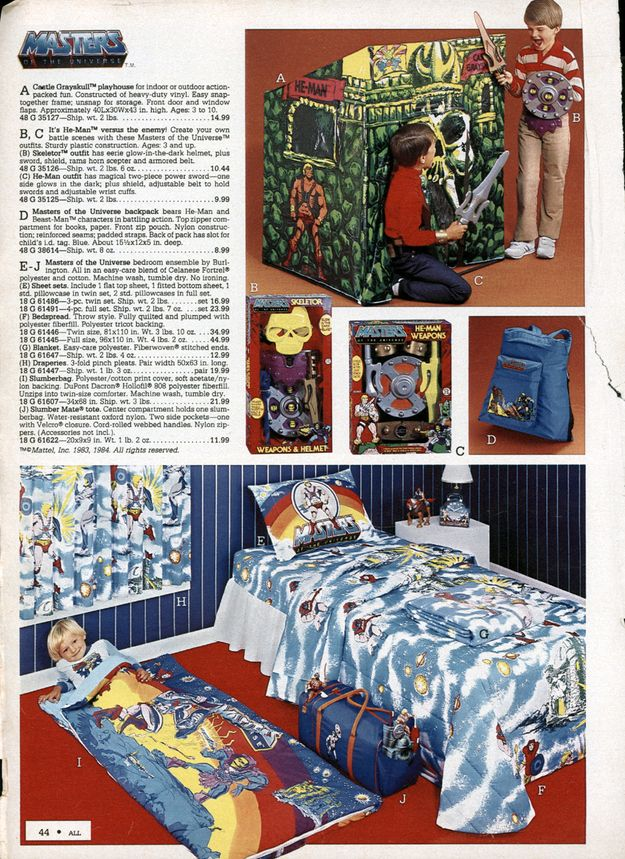 9 awesomely '80s kids bedrooms  masters of the universe