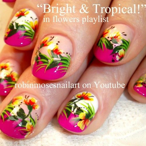 tropical nail art - Google Search - 92 Best Tropical Nail Art Images On Pinterest Tropical Nail Art