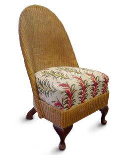Upholstery by Caroline McGivern Lloyd Loom chair