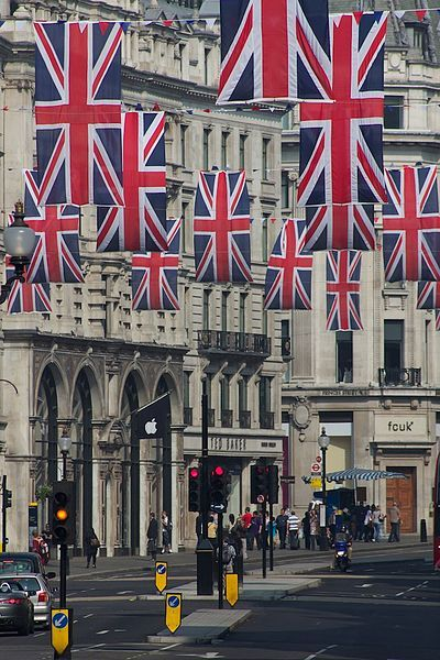 Regent Street. Recreate this scene with Union Jack Flags from…