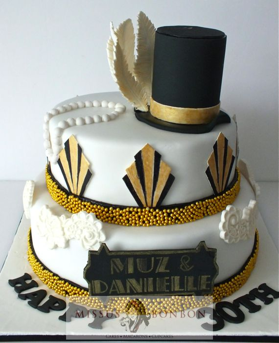 Little Big Company Styling Great Gatsby Party Cake By Studio Cake