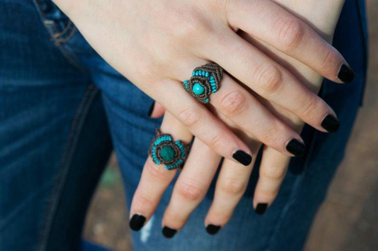 Macranelly#handemade#macrame#rings#naturalgemstonesbeads