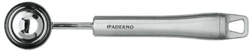 Paderno World Cuisine 7-7/8-Inch Long Coffee Measuring Scoop by World Cuisine. $20.46. professional quality. stainless steel construction. Dishwasher-safe. engineered in Italy by Paderno World Cuisine. dishwasher safe. a staple in all coffee shops. From the Manufacturer                The Paderno World Cuisine 7-7/8-inch long coffee measuring scoop has a stainless steel handle.  It is dishwasher safe and extremely durable.  It has a loop at the end for easy hangin...