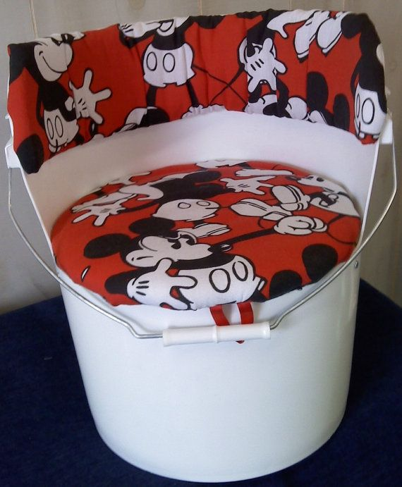 5 Gallon Bucket Chair Retro Mickey Mouse on Etsy, $30.00