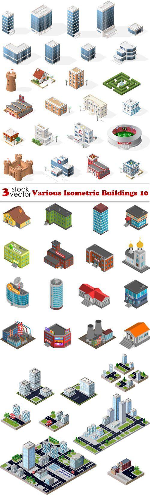 Vectors - Various Isometric Buildings 10