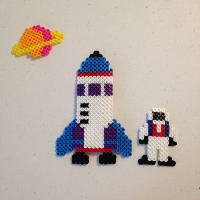 Space perler beads by l_a_perler_beads