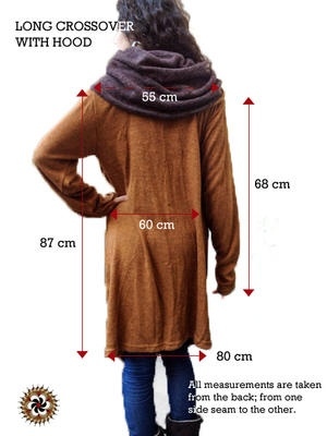 #Copper Brown #Crossover with Hood - by #Bindidesigns $74