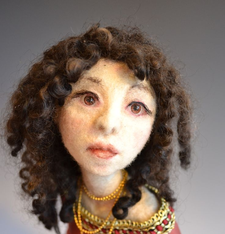All is Fair... - Detail, Needle felted wool on wire armature.  Jennifer Schermerhorn
