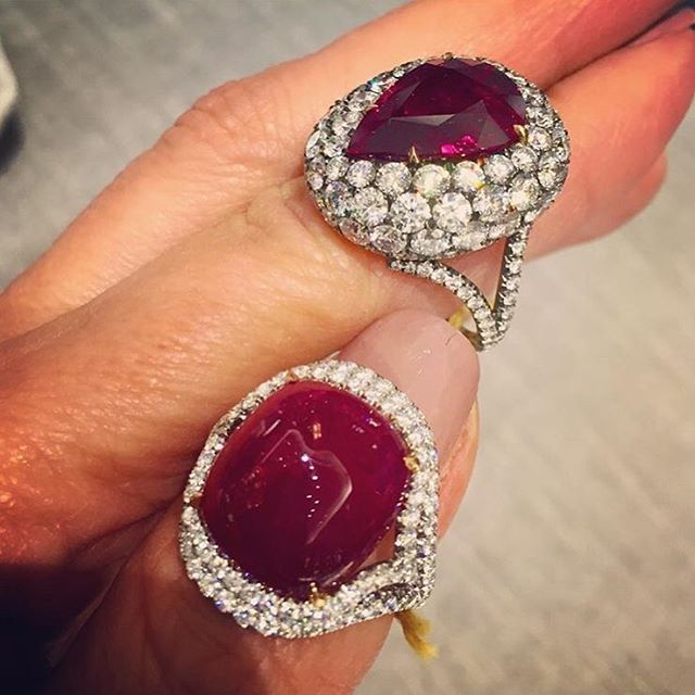 Marvellous #Bayco Ruby and Diamond creations on the hand of beautiful @jillnewman at @bergdorfs