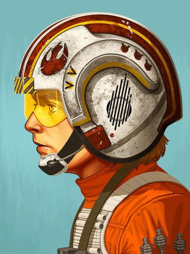 Star Wars Red Five / Luke Skywalker - Mike Mitchell Mondo Limited Edition Print