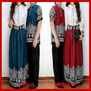 Baju Muslim Sarimbit batik CP52 - Busana Muslim Terbaru