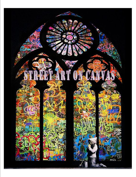 Hey, I found this really awesome Etsy listing at http://www.etsy.com/listing/155723472/huge-banksy-canvas-stained-glass-boy