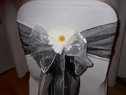 How To Make Your Own Cheap Wedding Chair Covers For Your Wedding...Use our Always Elegant 108 by 10 inch garland for this look. At www.AlwaysElegant.com.