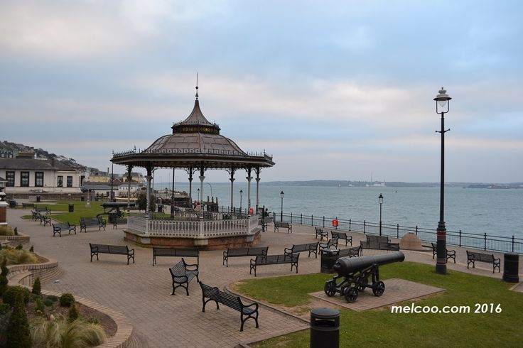 Cobh promenade and 19th century bandstand.