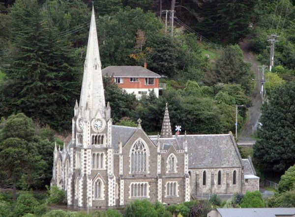 Iona church (combined) at Port Chalmers, Dunedin, Otago, New Zealand.