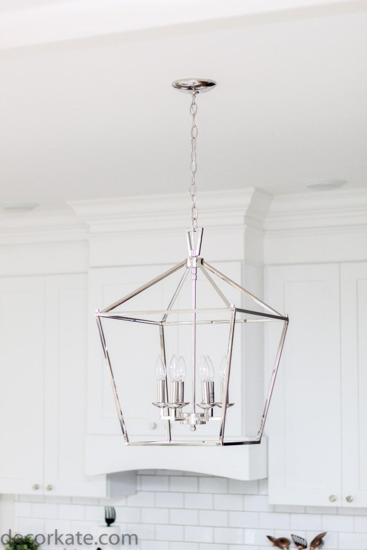 New Lighting Over Our Kitchen Island Decorkate Over Island Pendant Lights Kitchen Island Lighting Pendant Lantern Pendant Lighting