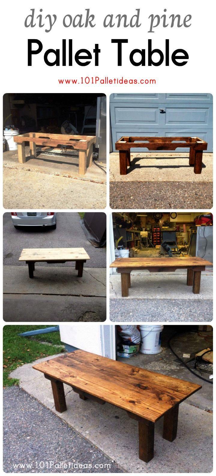 DIY-Oak-and-Pine-Pallet-Table.jpg (720×1580)