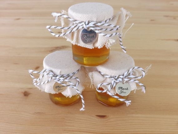 An adorable idea for a baby shower favors: Set of 12 2oz Honey Jar Favors by JirehCraftyCreations, $32.00
