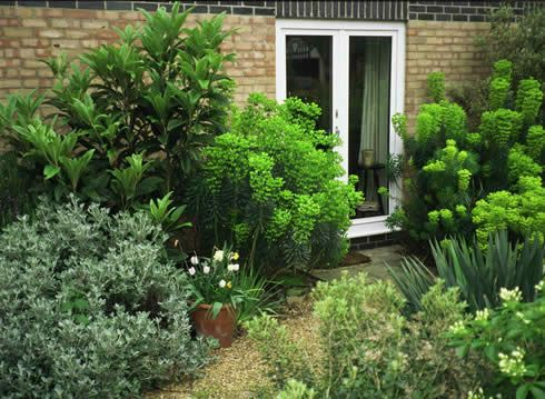 an apartment garden in sussex