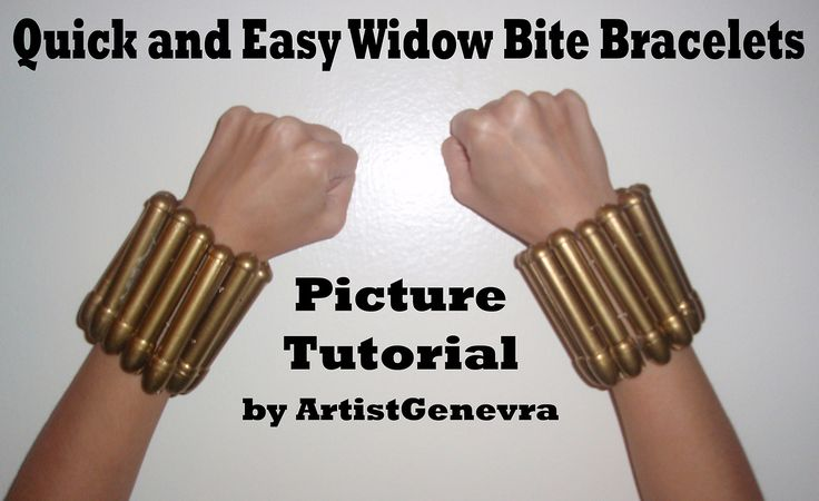 Quick and easy cool looking widow bite bracelets for Black Widow Cosplay picture tutorial. Send me your picture replies here or on my facebo...