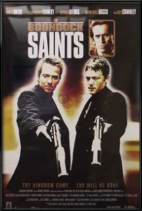 the boondock saints framed movie poster print regular style brown