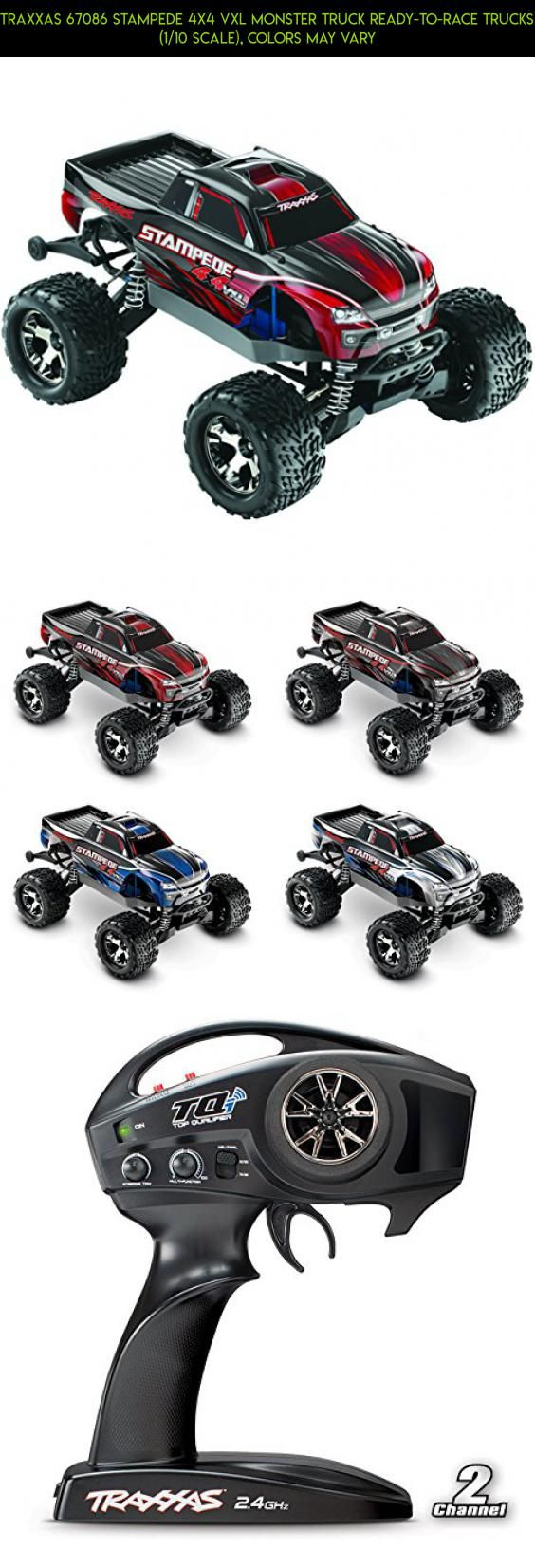 Traxxas 67086 Stampede 4X4 VXL Monster Truck Ready-To-Race Trucks (1/10 Scale), Colors May Vary #camera #wheels #wheelie #gadgets #drone #traxxas #racing #fpv #tech #parts #technology #bar #products #kit #plans #shopping