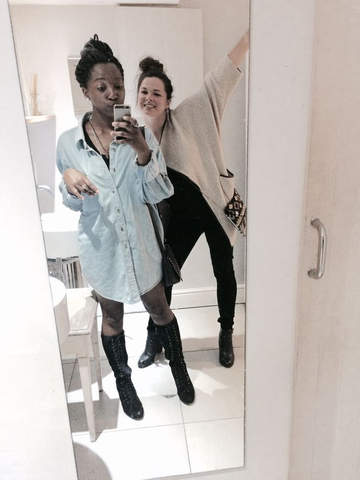 With my beautiful friend Camille! Love this girl to bits  #boots #denim #fashion #time #photography #friends #love #black #fun #style #retro #hipster!'tondf