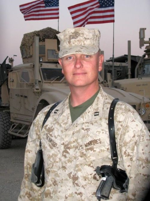 The face of a true hero: Not only did Jeremy Henwood serve as a police officer for the City of San Diego, but he also served in the military as a Captain with the United States Marine Corp Reserves in one of the most dangerous regions of Afghanistan.
