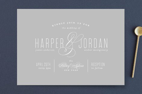 """""""Scripted Ampersand"""" - Wedding Invitations in Classic by roxy."""