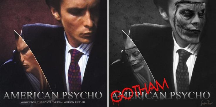#Joker x #ChristianBale. This is the outcome of me playing around with the #AmericanPsycho OST cover. #Batman #DCComics #Superheroes #Villains