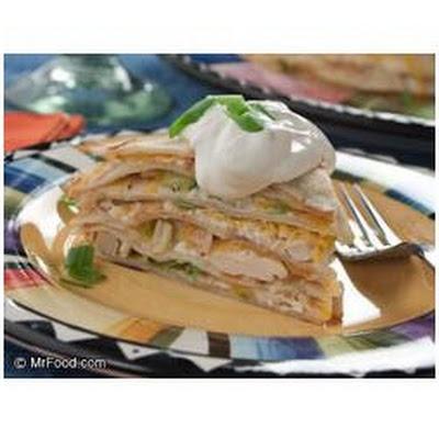 Chicken Tortilla Cake