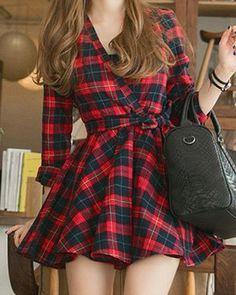 vestido skater xadrez - http://vestidododia.com.br/modelos-de-vestido/vestidos-skater/vestidos-skater/