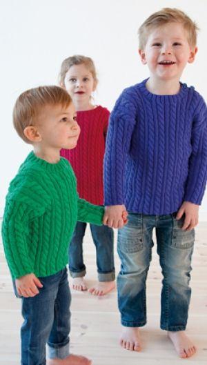 Gratis strikkeopskrift | Børnebluse med snoninger