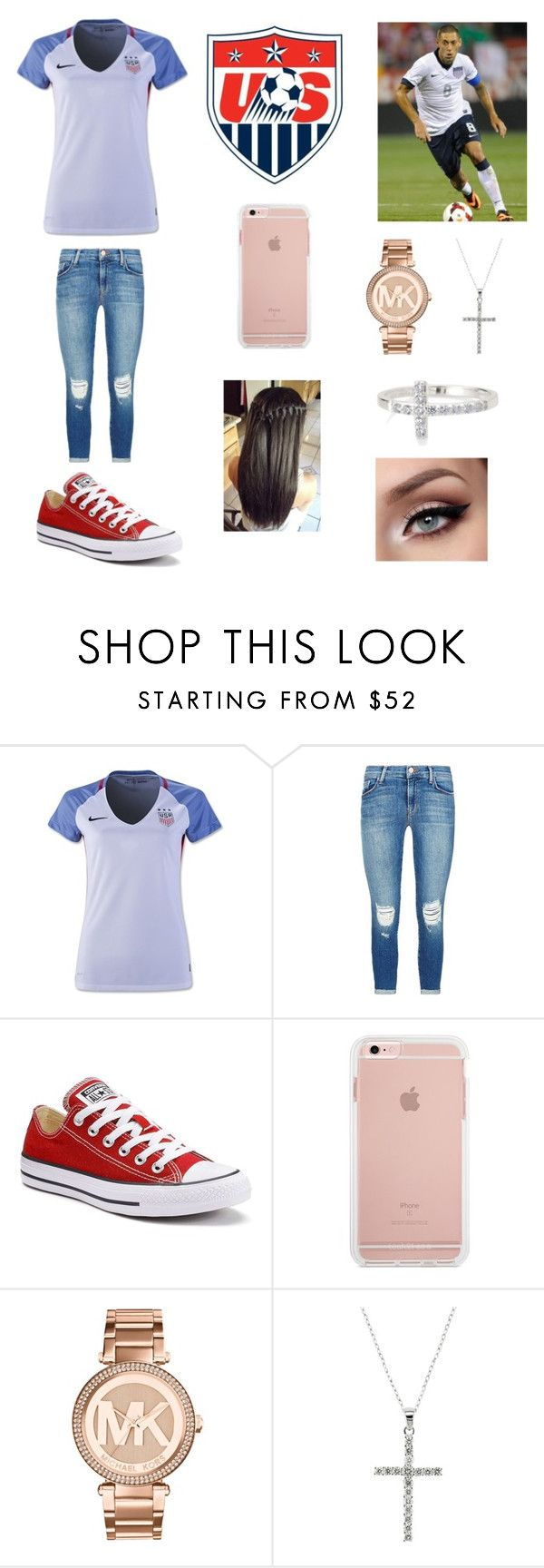 """Copa America. USA is gonna win 🇺🇸🏆"" by gissel-bonilla ❤ liked on Polyvore featuring J Brand, Converse, Michael Kors, EWA and Stella & Dot"
