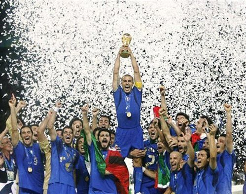 Italian Football team. This team is one of the most successful national teams in the history of the World Cup. The Italian football team won 4 titles.