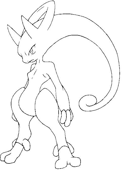 Dibujo para colorear Pokemon megaevolucionados Mega Y