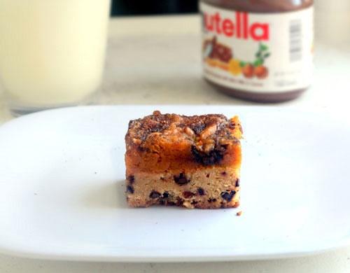 Kürbiskuchen Nutella Chocolate Chip Snickerdoodle Bars
