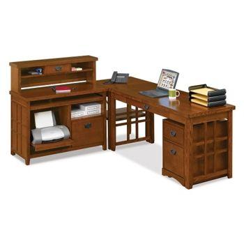 Mission Oak L Desk Complete Workstation   13338 And More Lifetime  Guarantee. Wholesale Office SuppliesComputer ...