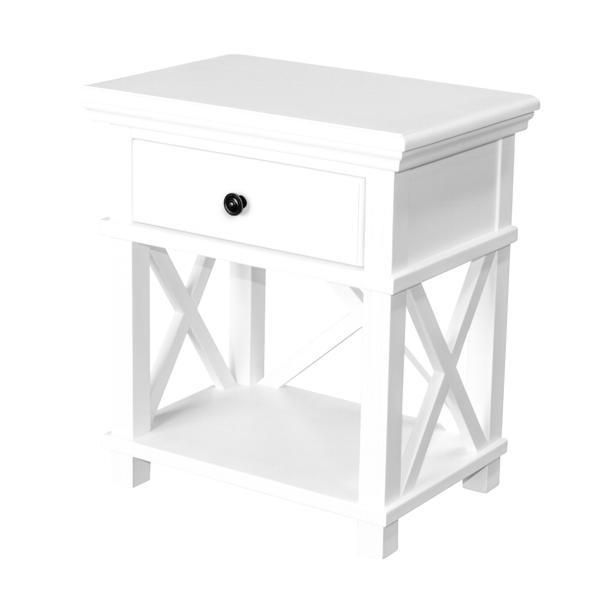 Sorrento White Criss Cross Bedside Table White Bedside Table Bedside Table Cross Bedside Table