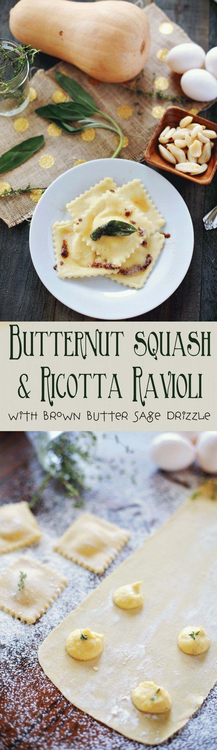 This was so much easier to make than I thought it would be. And tasted HEAVENLY!!! Butternut squash Ravioli from Flirting with Flavor. (Banana Squash Recipes)
