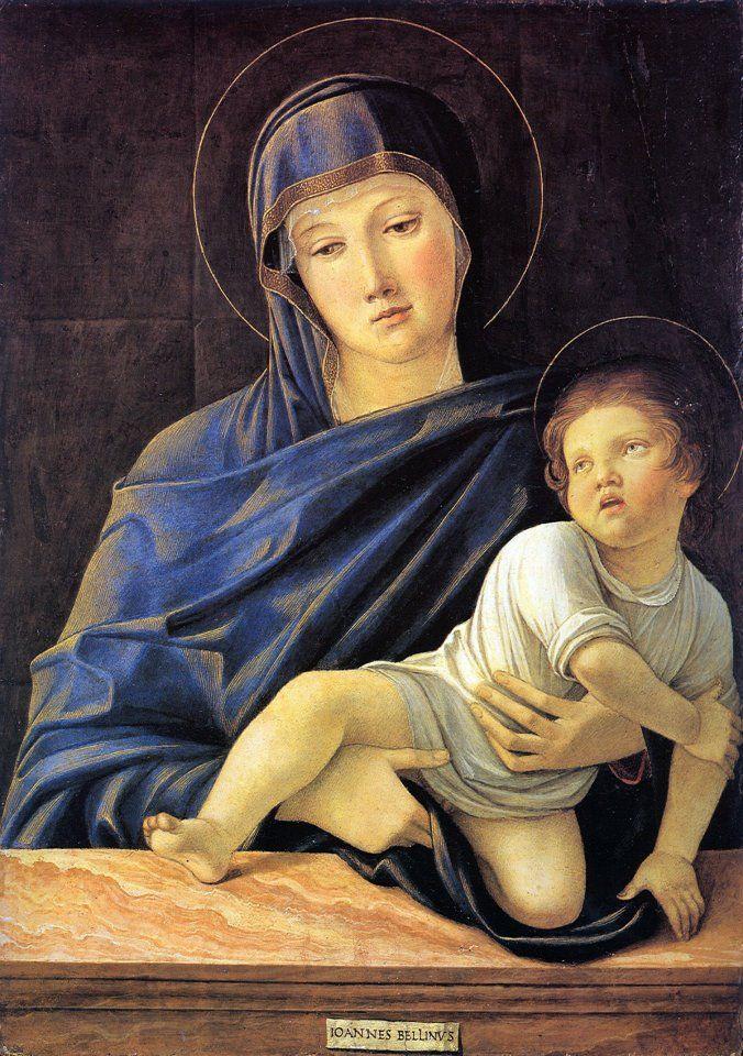 Giovanni Bellini - Madonna Lochis 1475 Galleria dell'Accademia Carrara (Musei Italiani on Facebook)