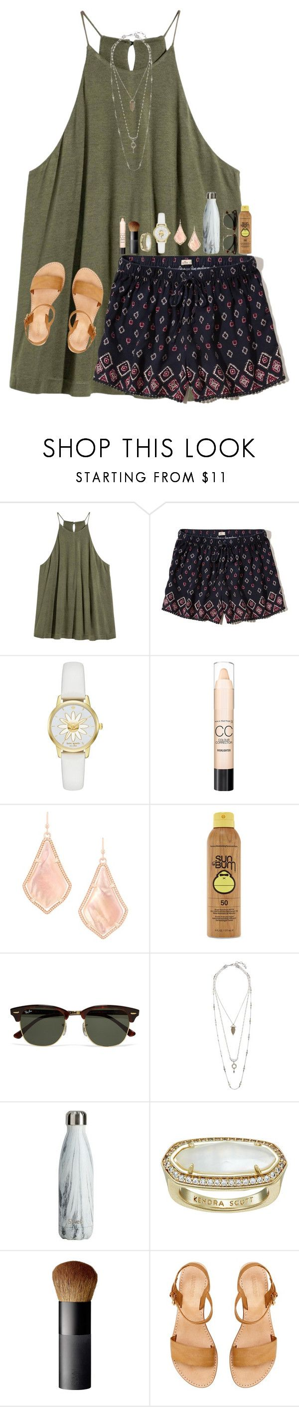 """For those of you that asked for a tbh I'll do them soon!!"" by simply-lilyy ❤ liked on Polyvore featuring Hollister Co., Kate Spade, Max Factor, Kendra Scott, Forever 21, Ray-Ban, Lucky Brand and NARS Cosmetics"