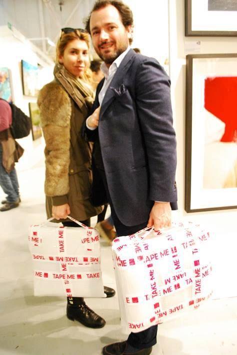 Un couple, deux oeuvres , une seule passion l'art : merci à l'AAF Milan ;-)