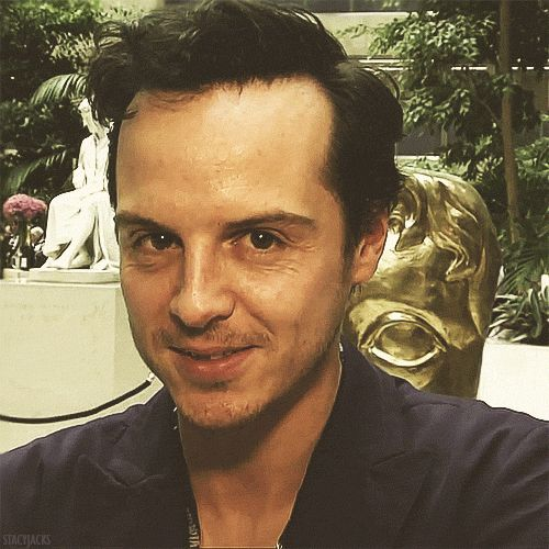 Andrew Scott doing Moriarty << oh GOODNESS, this is probably my favorite gif EVER.  It scares me and yet I can't look away. LOL