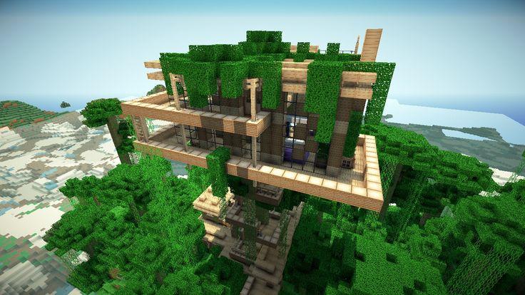 Minecraft jungle treehouse blueprintsjungle treehouse by keralis minecraft pr - Maison minecraft design ...