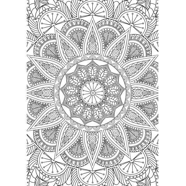 Printable para colorir Mandala Indiana